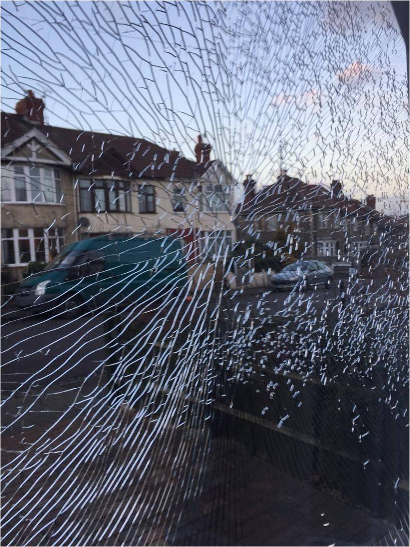 double glazing shatters
